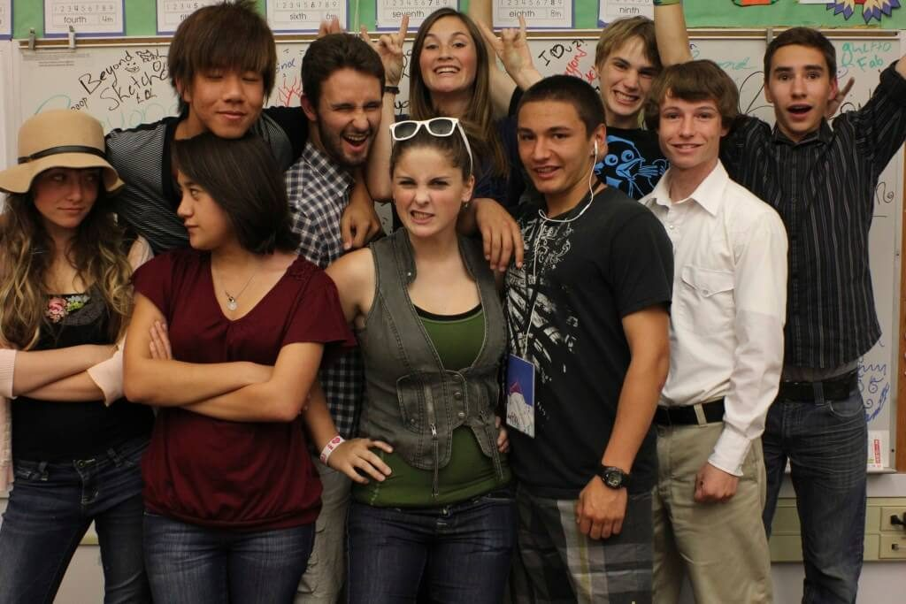 """Cast of """"Beyond Sketch"""", sketch comedy show for public access tv; product of our Fall 2011 Season."""
