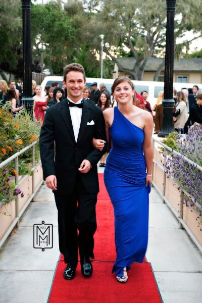 """Eric Hinwood escorts Tyler Zenda up the red carpet for the prmeire of """"Instructions Not Included""""; product of our first season, Winter 2010"""